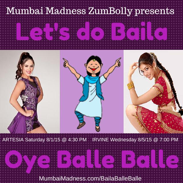 Mumbai Madness ZumBolly Baila Balle Balle