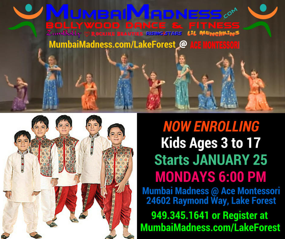 Mumbai Madness Kids Bollywood Dance Lake Forest