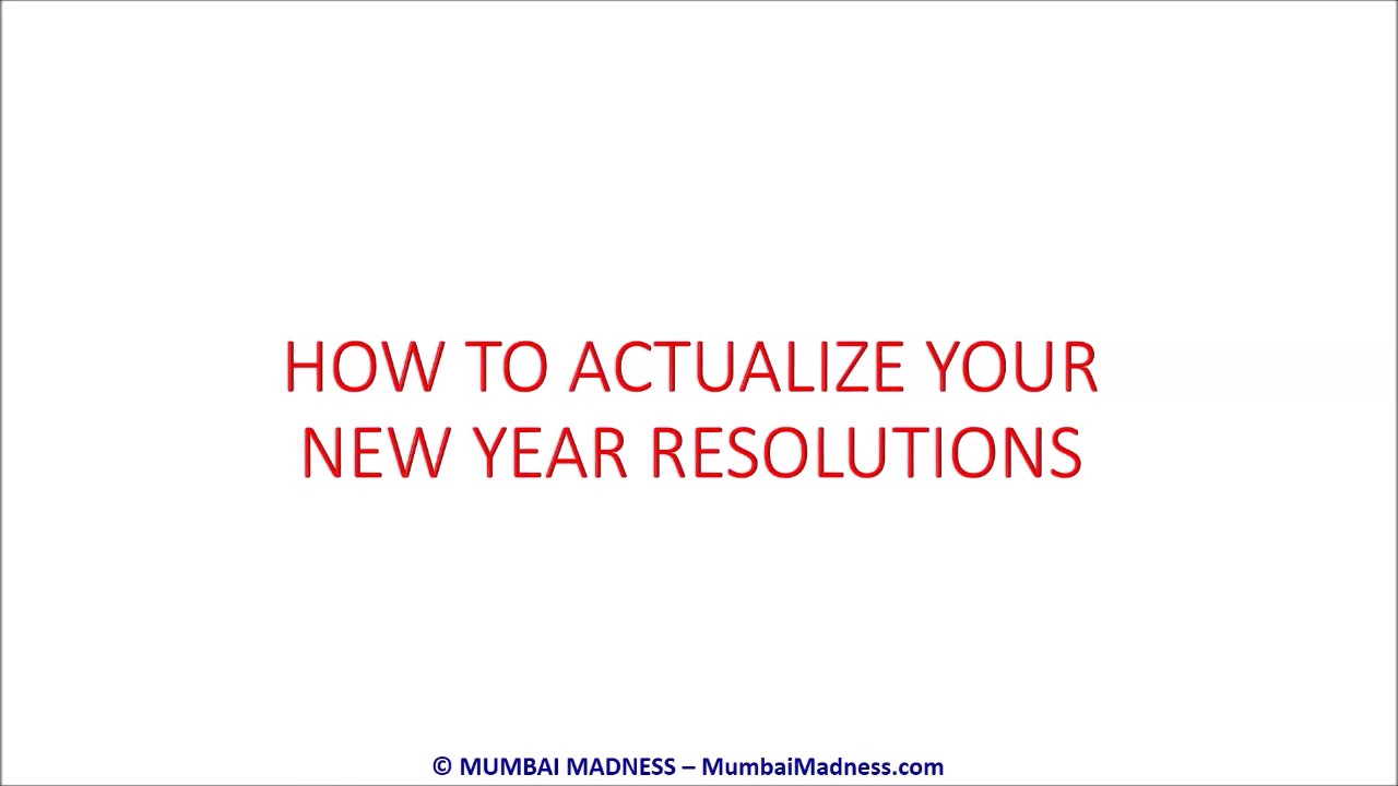 Actualize New Year Resolutions thumbnail