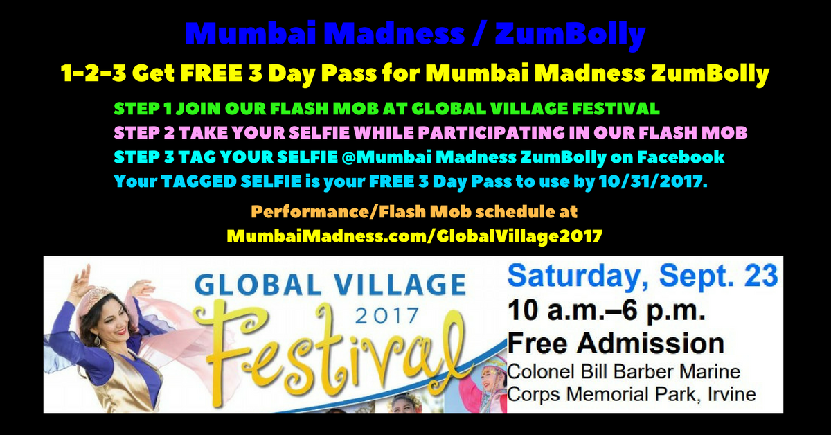 Selfie Campaign Mumbai Madness ZumBolly irvine global village festival