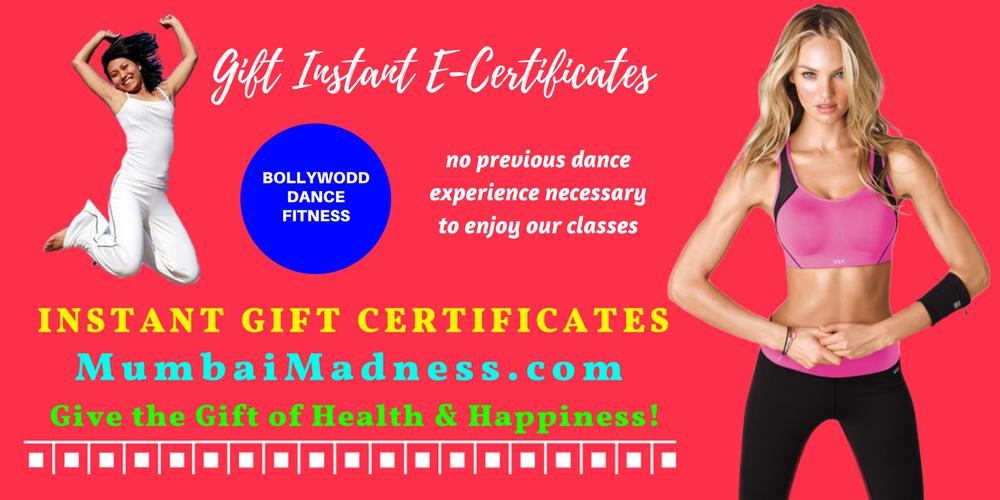 Mumbai Madness ZumBolly Instant Gift Certificate