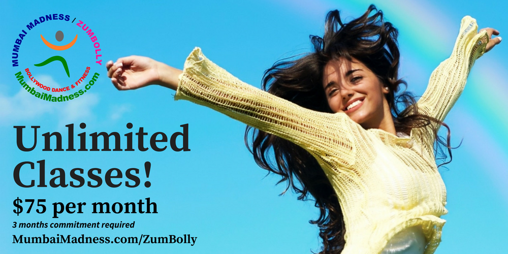 Mumbai Madness ZumBolly Irvine Tustin Orange County Unlimited Classes Bollywood Dance Fitness