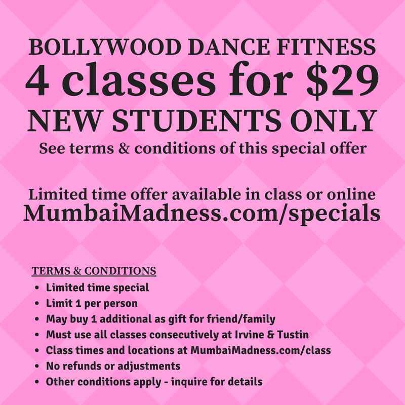 Mumbai Madness ZumBolly New Student Special Ladies Bollywood Dance Fitness Irvine Tustin