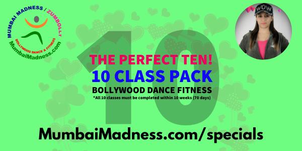 Mumbai Madness ZumBolly Bollywood Dance Fitness 10 class pack