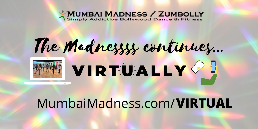 Mumbai Madness ZumBolly Bollywood Dance Fitness Virtual Online Class