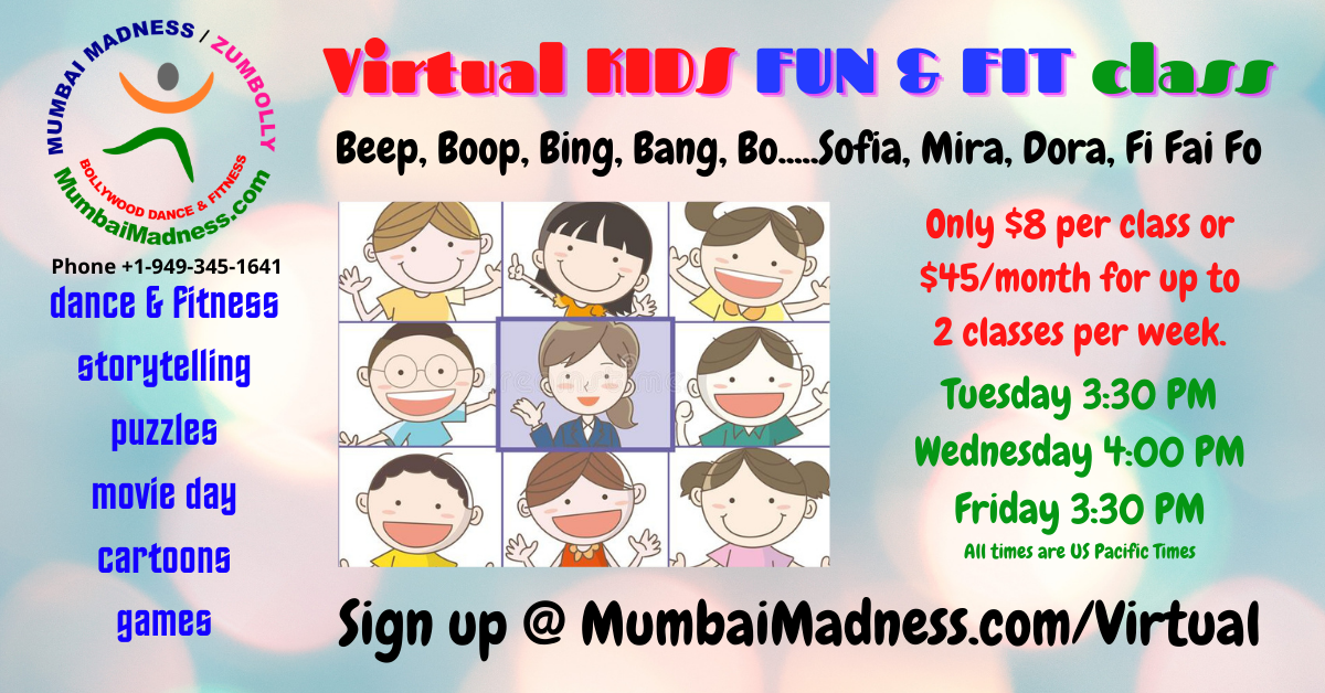 Mumbai Madness Virtual Fun and Fit Kids Class